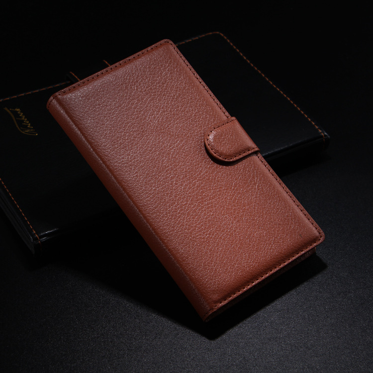 Premium PU Leather Card Slots Wallet Stand Cover Case for Nokia 6