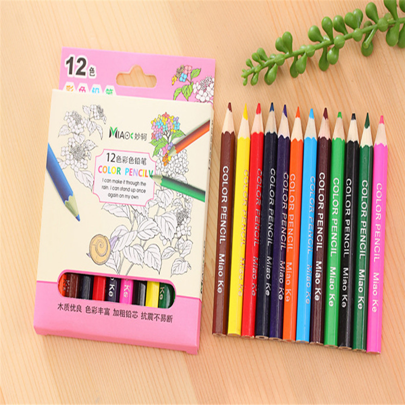 12 Color Small Pencil Painting Pen Color Lead Pencil Writing Painting Office Stationery Pencils Gifts For Students New A30