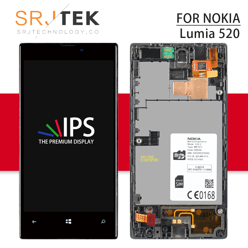 Srjtek Screen For Nokia lumia 520 LCD Display For Nokia lumia 520 Touch Screen Digitizer Assembly Replacement Parts 4.0 N520Srjtek Screen For Nokia lumia 520 LCD Display For Nokia lumia 520 Touch Screen Digitizer Assembly Replacement Parts 4.0 N520