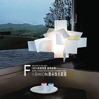 현대 chunky 종이 접기 아크릴 샹들리에 성격 예술 종이 접기 램프 샹들리에 조명 레스토랑/침실 홈 인테리어에 대한