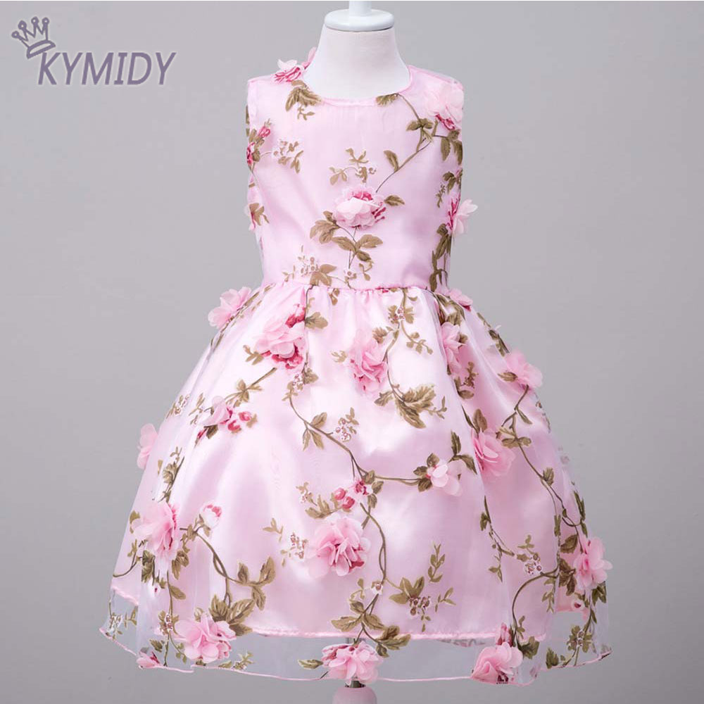 Dresses For Girls: Sweet Flower Girl Dress For Party Costumes 3D Flowers