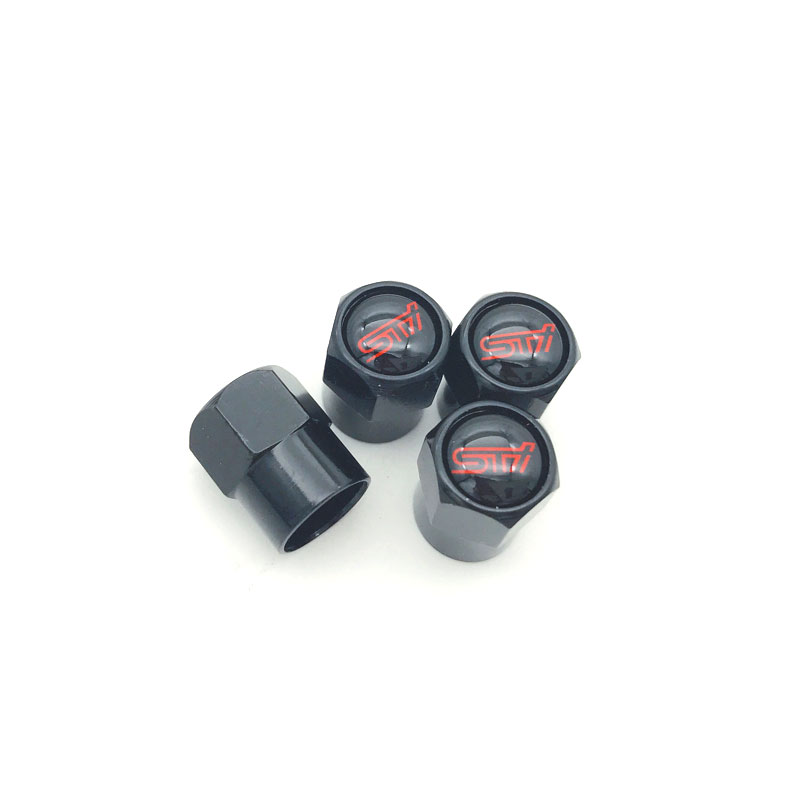 4PCS/set Auto Accessories Wheel Tire Parts Valve Stem Caps Cover For Subaru XV Forester Impreza WRX STI LOGO car styling for subaru xv 09 13 forester 10 wrx sti balancing rod ball joint