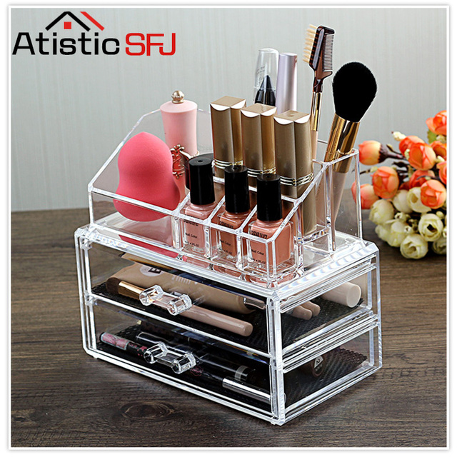 Atistic SFJ Make Up Veranstalter Aufbewahrungsbox Acryl Make Up ...