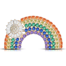 Luxury Colorful Zircon Crystal Rainbow Brooches for Women Copper Micro-Paving Brooch Pin Fashion Badge Dress Hat Accessories