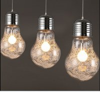 Big Bulb Lamp Art Deco Glass Pendant Light Lights Large Bulbs Hanging Modern Lights Glass Lighting Art Deco Bar Fashion Night