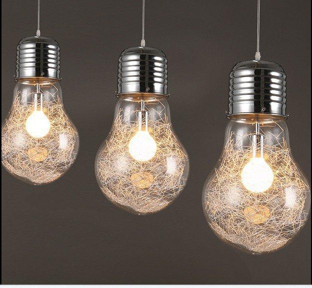 Grande ampoule lampe Art déco verre suspension lumières grandes ampoules suspendus moderne lumières verre éclairage Art déco Bar mode nuit