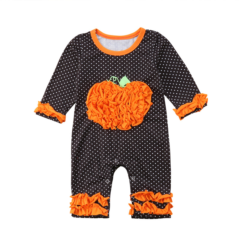 Mother & Kids Rompers Enthusiastic 2018 Newborn Toddler Baby Girls Boy Polka Dots Harem Romper Pumpkin Jumpsuit Playsuit Clothes Halloween Autumn Distinctive For Its Traditional Properties
