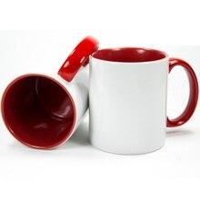 48 piezas tazas de China fabricante de 11 oz de colores interiores de  sublimación Taza de cerámica recubierto de blanco taza de . f18f917549e