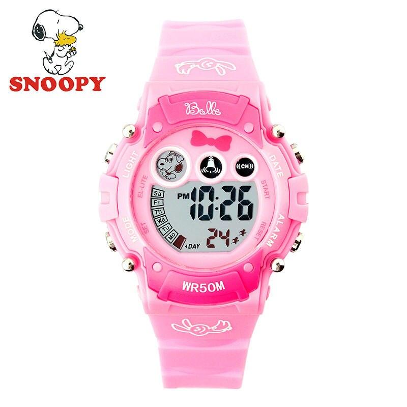 Snoopy Kids Watch Children Watch Cool  Cute Digital Wristwatches Girls Sports Leather Clock