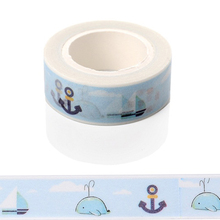 1 Pcs Ocean Sea Dolphin Washi Paper Masking Tape Scrapbooking Tapes Gift Wrapping Sticker Diy Stickers Decorative Scotch Tape
