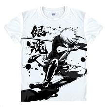 Gintama T shirts kawaii Japanese Anime t shirt Manga Shirt Cute Cartoon Silver Soul Gin Tama