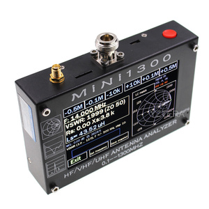 "Image 3 - MINI1300 5V/1.5A HF VHF UHF антенный анализатор 0,1 1300MHZ счетчик частоты SWR метр 0,1 1999 с 4,3 ""TFT LCD сенсорным экраном"