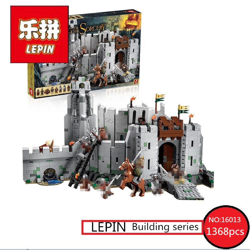 Lord of the Rings Series LEPIN 16013 1368pcs Battle Of Helm' Deep Model Building Blocks Bricks Mini Toys for Children Figures брюки accelerate tight