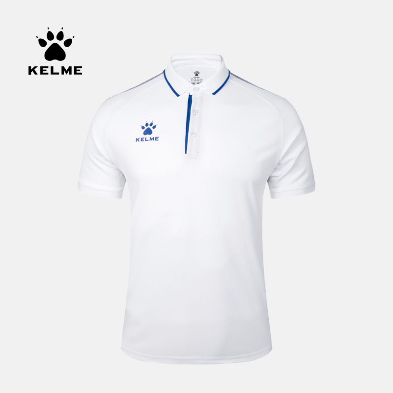 KELME Men's Summer Polo Short Sleeve Cotton Sports POLO Slim Casual Shirt 3891066