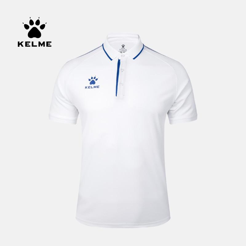 KELME Men's Training Polo T-Shirt  Summer Running Cotton Shirts Casual Short Sleeve Tops High Quantity Polo For Men 3891066