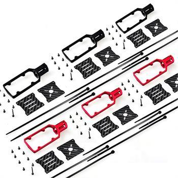 6 Sets Carbon Fiber 16mm Tube CNC Aluminium Alloy Motor Mount Seat for RC Quadcopter Multi