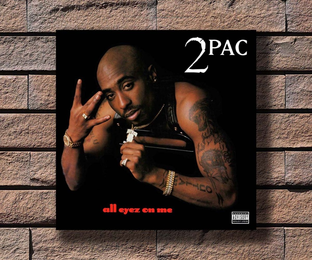 "2Pac Tupac Shakur poster wall art home decoration photo print 24/"" x 24/"" inches"