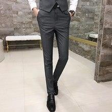 0b4662099182 2018 nuevos hombres de moda salvaje tendencia rojo pantalones de traje  coreano Pantalones Slim joven estilista