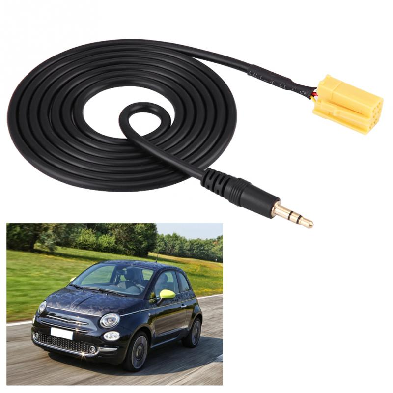 Car Audio AUX Cable 3.5mm Jack to ISO 6Pin Connector W/ Removal Keys for Fiat Grande Punto