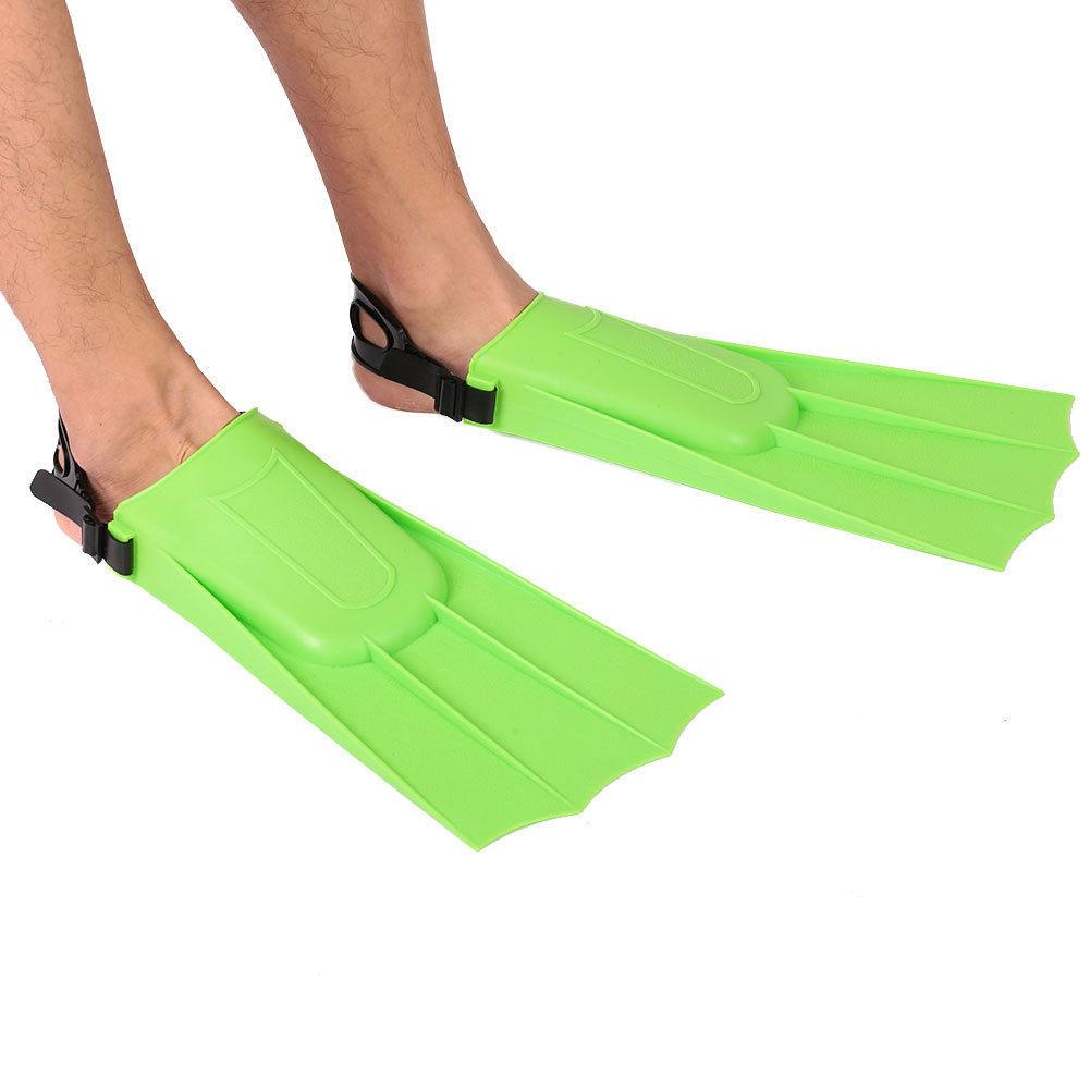 1 Pair Adult Snorkeling Diving Short Fins Swimming Flippers With Adjustable Heel Swimming Fins Kids Flippers Equipment Water Fin