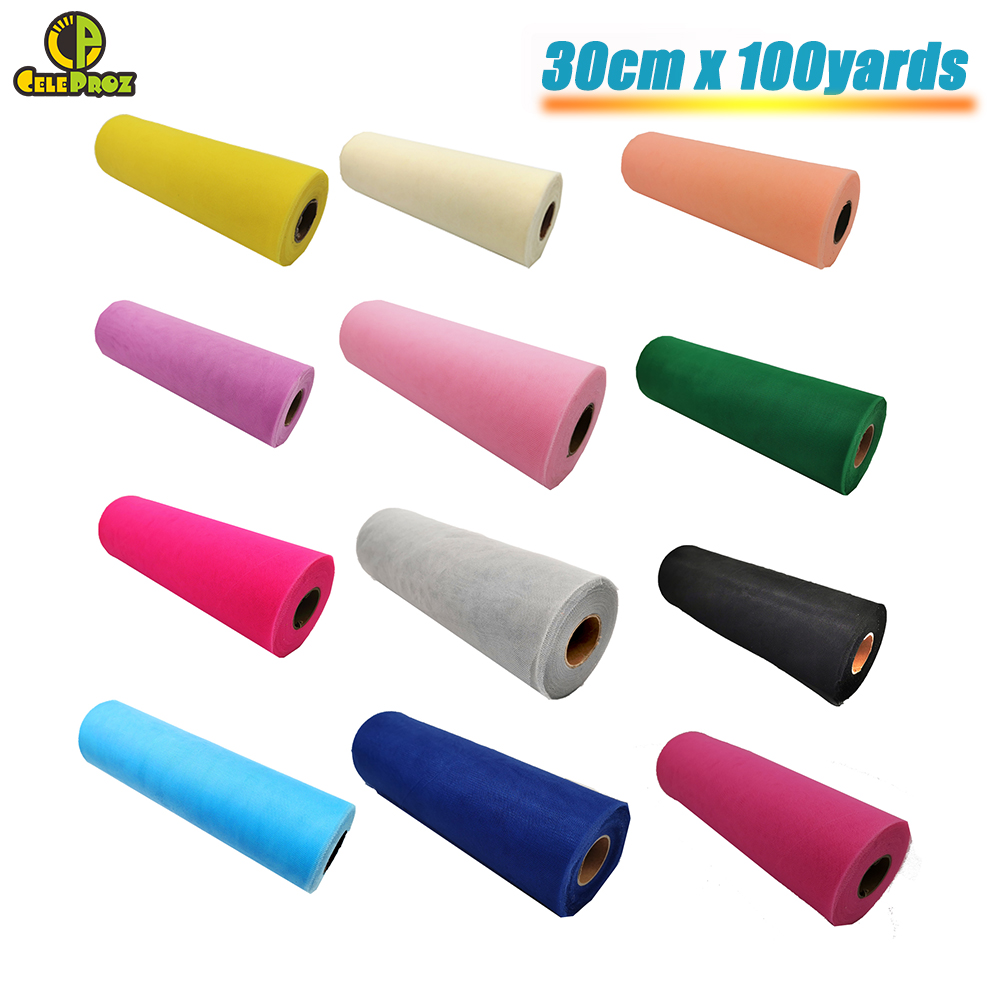 30cm 100Yards White Tulle Roll Tulle Organza Fabric DIY Outdoor Wedding Birthday Alise Runner Centerpieces Decoration Supplies-in Party DIY Decorations from Home & Garden on Aliexpress.com | Alibaba Group