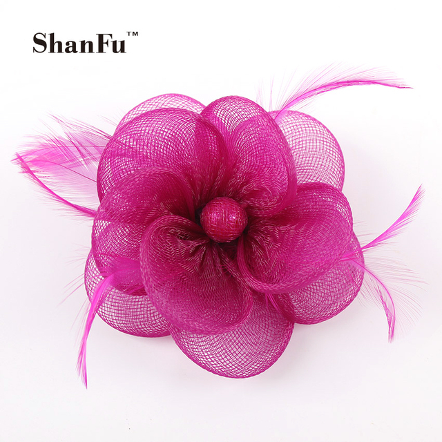 d181d728e6266 Women Mesh Flower Fascinator Wedding Decorative Brooch Small Hair  Accessories with Hair Clip and Pin SFB6797