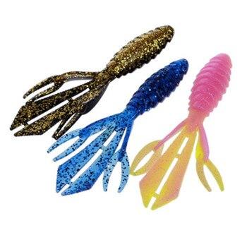 12 cm/13g señuelo suave de pesca gusano Crawfish langosta y camarones Swimbait garra Isca cebo artificial de pesca lubina de silicona Minnow