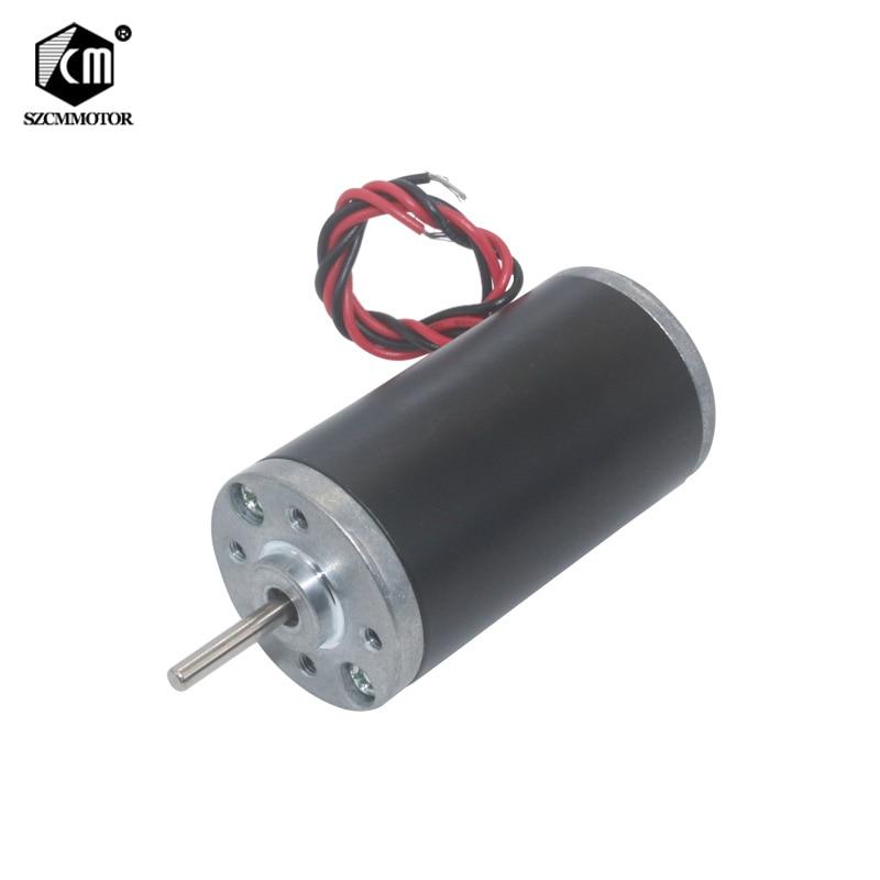 12 v 24 v 3500 rpm 5000 rpm 6000 rpm 8000 rpm ímã permanente dc motor alto poderoso micro carbono escova cw/ccw motor de alta velocidade