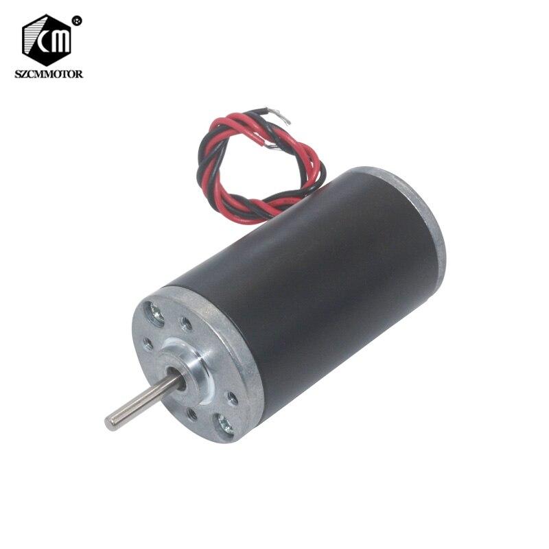 12V 24V 3500RPM 5000RPM 6000RPM 8000RPM Permanent Magnet DC Motor High Powerful Micro Carbon Brush Motor CW/CCW High Speed Motor