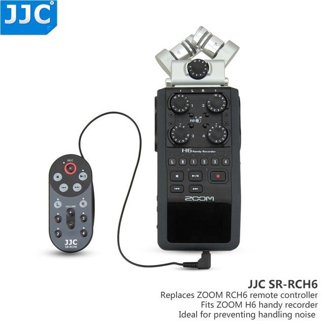 JJC 1.5m / 4.6 Feet kablo kablolu uzaktan kumanda kontrolörü komutanı Zoom H6 Handy taşınabilir dijital değiştirir RCH 6
