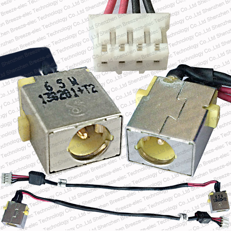 65w Genuine New Laptop AC DC IN Power Jack socket with cable connector wire for ACER TRAVELMATE P455 TMP455-M-6623 DC30100NK00