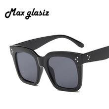 Max glasiz Fashion Women Sunglasses Square Sun Glasses Female Mirror Lense Summer Style Vintage Black Big Frame Eyewear UV400