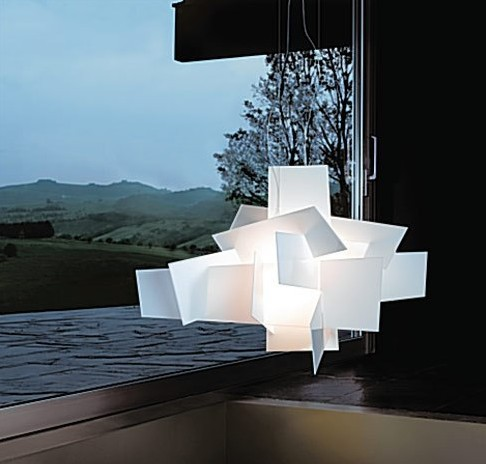 D65cm/95cm Modern Foscarini Big Bang Stacking Creative Modern Chandelier Lighting Art Pandant Lamp Ceiling LED 90 260V Replica-in Pendant Lights from Lights & Lighting    1