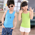 Baby Tops Children Vest Boys Girls Summer T Shirts Sleeveless Tank Camisoles 2016 Solid Toddler Tees T-Shirt Size 90-160 Summer