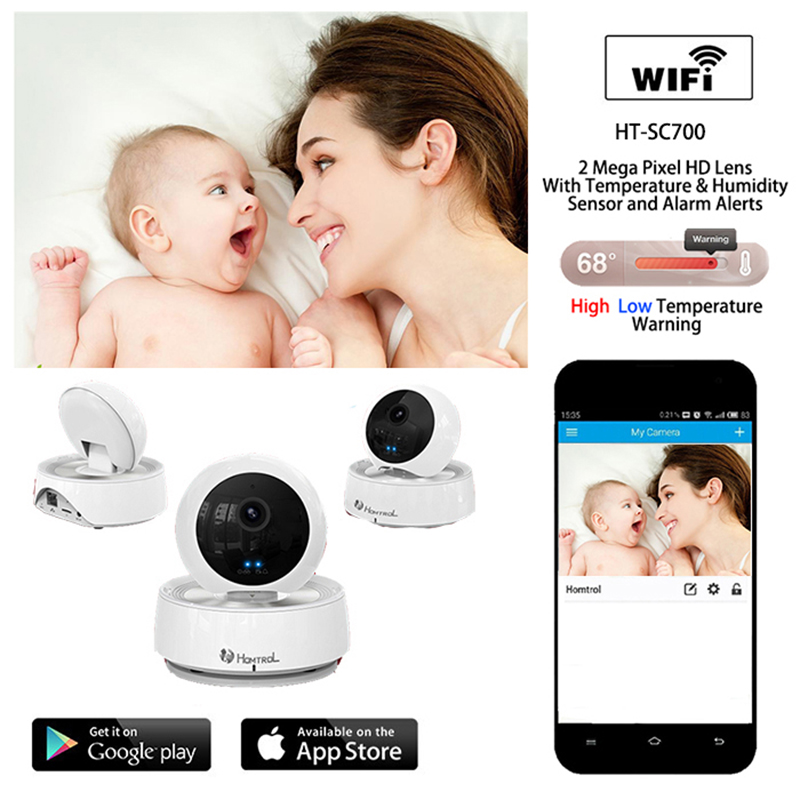 Homtrol Baby Monitor Pro Series with Enhanced Night Image Features and Temperature & Humidity Sensor For Mega Pixel HD fpga based intellegent sensor for image processing