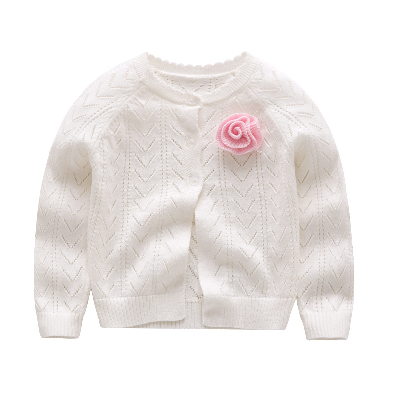 Aggressive Yw518f0231 Autumn Baby Sweater For Girls Cardigan For Girls Sweater Solid Fashion Kids Clothes For Girls Clothes Flower Yw Girls' Clothing Sweaters