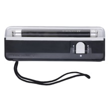 Портативный ручной УФ светодио дный Легкая Лампа Факела поддельные валют для купюр детектор Батарея работает Прямая