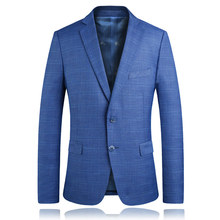 Autumn Men's Long-sleeved Suits Jackets Business Casual Men Plaid Suit Coats Size S-3XL Male Blazers Jacket