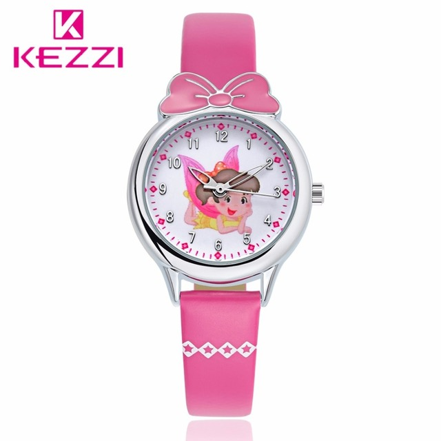 New Style Children Casual Watch Girl Cute Rabbit Pattern Sweet Style Quartz Wristwatches Wristwatch Student Clock