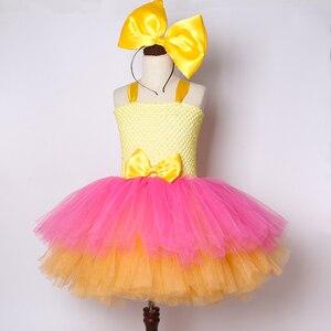 Image 3 - Mädchen Lol Tutu Kleid Nette Prinzessin Cartoon Puppe Mädchen Geburtstag Party Kleid für Kinder Mädchen Weihnachten Halloween Lol Cosplay Kostüm