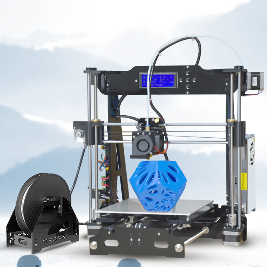 2017 New tronxy P802E Full models 3D Printer Kits Extrusion DIY kit 3d printing Hotbed 1 roll PLA Filament 8GB SD card tronxy 1 75mm pla filament for 3d printer