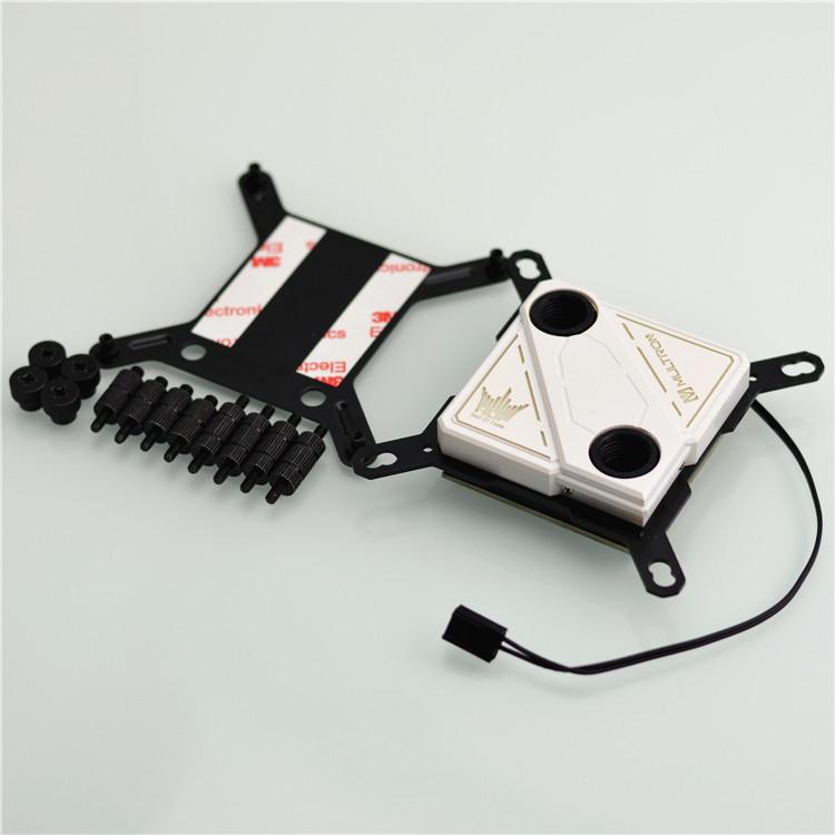 Prix pour Plein cuivre fin ordinateur cpu waterblock refroidisseur plate-forme complète pour intel avec respiration led, 60*60mm rouge cuivre fond