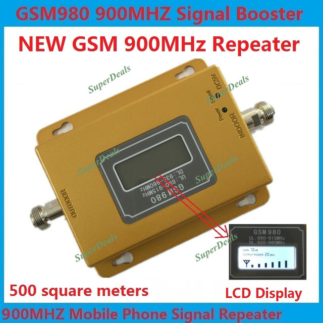 Para A Rússia 500 metros quadrados GSM 900 MHZ Signal booster GSM980 Display LCD Celular Mobile Phone Signal Booster/Amplificador/kit repetidora