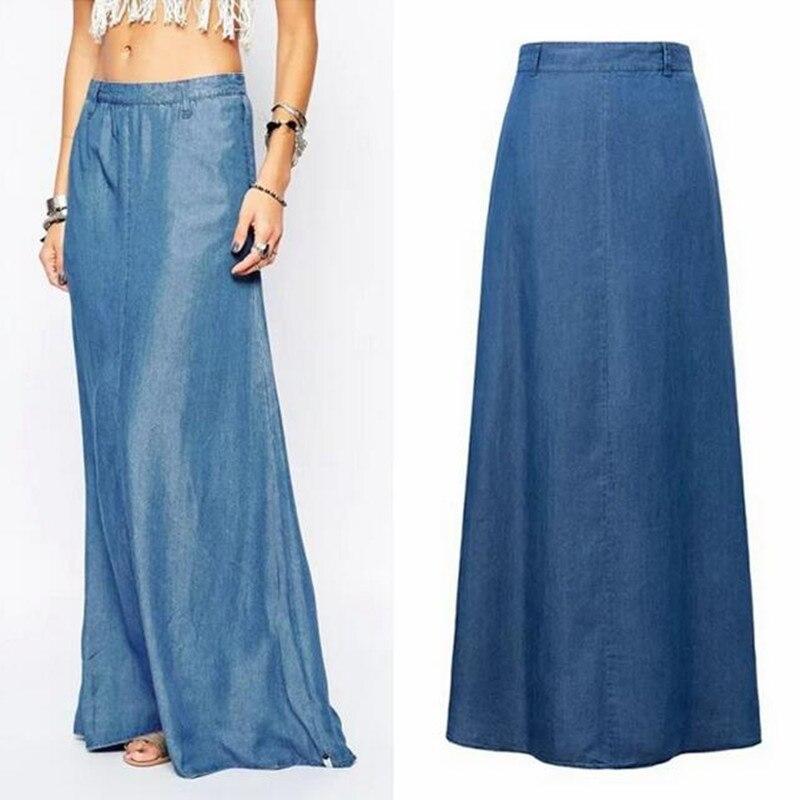 Blue Jean Maxi Skirt