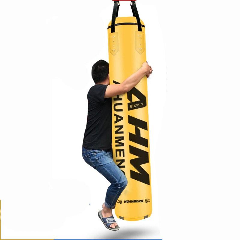 2019 mais novo couro do plutônio 120cm saco de areia vazio saco de boxe kick indoor sports earthbags treinamento muai thai mma vazio