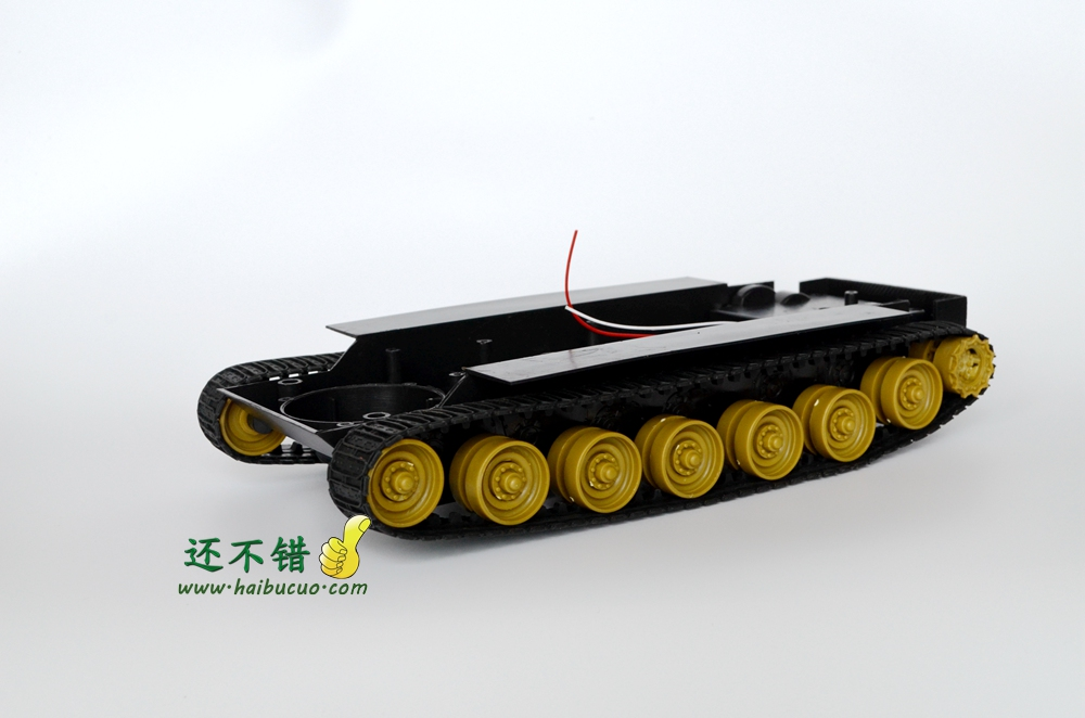 DIY 70 Plastic Tank Chassis with Rubber Crawler belt Tracked Vehicle Robot Chassis diy 85 light shock absorption plastic tank chassis with rubber crawler belt tracked vehicle big size
