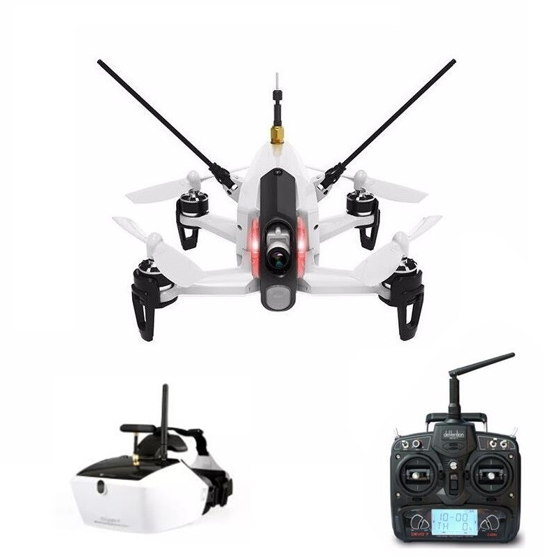 Walkera Rodeo 150 with DEVO 7 Remote Control Racing Drone with 600TVL Camera & GOGGLE 4 FPV Glasses RTF mr froger carcharodon megalodon model giant tooth shark sphyrna aquatic creatures wild animals zoo modeling plastic sea lift toy