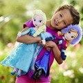 2016 Новое прибытие Aliexpress top seller девушки детские frozene плюшевые toy dolls 40 см анна элас 30 см olaf 20 см даже Рождество подарки