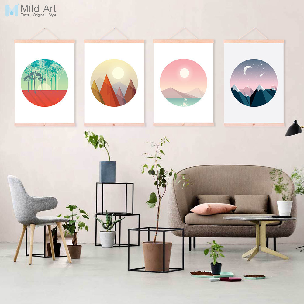 Aliexpress.com : Buy Natural Landscape Moonlight Mountain