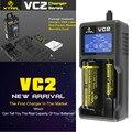 XTAR originais VC2 Universal Tela Lcd VC2 XTAR carregador de Bateria para 10440/16340/14500/14650/17670/18350/18500/18650